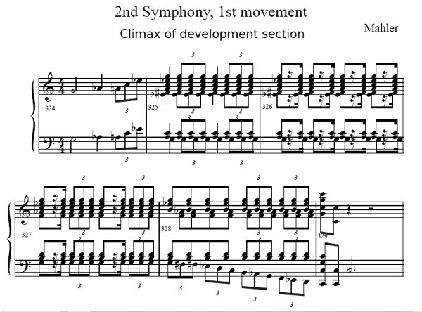 dissonant climax of Mahler 2nd.1